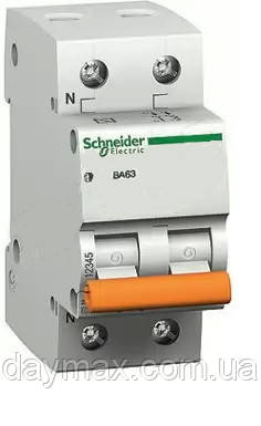 Автоматичний вимикач Schneider electric 11218 ВА63 1Р+N 50А, Домовик