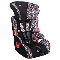 Детское авто кресло SIGER ART КОСМО алфавит, 1-12 лет, 9-36 кг, группа 1-2-3