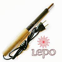 Паяльник 65 Вт ЭПСН 65/220 с деревянной ручкой, прямым жалом