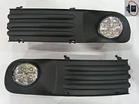 Дополнительные светодиодные фары Volkswagen Transporter T5 LED G-plast
