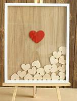 Рамка с сердцами для пожеланий!