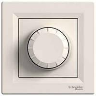 Шнайдер Диммер(светорегулятор поворотно-нажимной)(1000Вт), Asfora крем