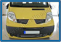 Накладки на решетку радиатора RenaultTrafic FL (2010-2014) (нерж.) 6 шт