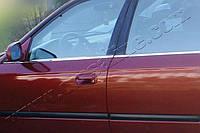 Нижние молдинги стекол Honda Civic SD (2002-2006) (нерж.) 4 шт