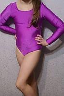Купальник гимнастический бифлекс подросток сиреневый, фото 1