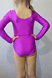 Купальник гимнастический бифлекс подросток сиреневый, фото 3