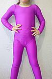 Купальник гимнастический бифлекс подросток сиреневый, фото 2