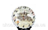 """Оригинальная форма настенные часы """"Путешествия"""" в стиле Прованс"""