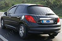 Накладка на лючок бензобака Peugeot 207 (2006-2012) (нерж.) Omsa