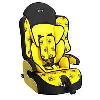 Детское авто кресло SIGER ART Прайм ISOFIX пчелка, 1-12 лет, 9-36 кг, группа 1-2-3