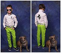 Брюки льняные на мальчика, 116 - 152 см. Детские, подростковые тонкие летние брюки. Штаны, лето, лен.