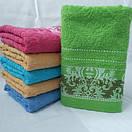 Махровые банные полотенца с красивой отделкой. Размер:1,4x0,7, фото 2