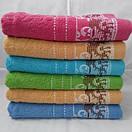 Махровые банные полотенца с красивой отделкой. Размер:1,4x0,7, фото 3