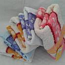 Лицевые махровые полотенца с цветочной отделкой. Размер: 1,0 x 0,5, фото 3