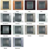 Рамка одномоместная Schneider electric Unica TOP Metall(металическая) Хром матовый/алюминий, фото 2