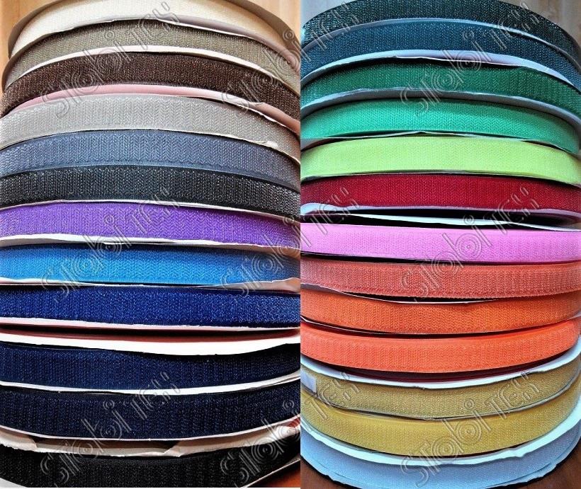 Липучка швейная 2см цветная