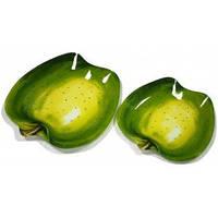 Набор тарелок 2 пр. Зелёное яблоко