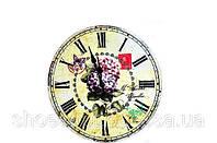 """Недорогие настенные часы """"Сирень"""" в стиле Прованс"""