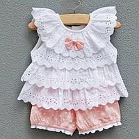 Комплект для девочки Блуза + шорты 7-9 мес. 45654 COCKCON Китай