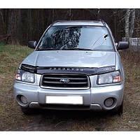 Дефлектор капота, мухобойка Subaru Forester с 2002-2005 г.в;кузов SG5,SG9