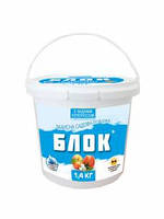 Садовая побелка блок мел 1,4 кг Екстра Белая  (тестообразная)