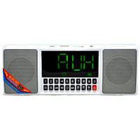 Портативная колонка MP3 часы WS-1515 bluetooth White, фото 1