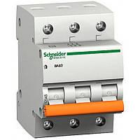Автоматический Выключатель Трехполюсный Schneider 3х63а