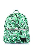Рюкзак женский кожаный Poolparty Xs Пальмы