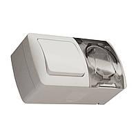 EVA Выключатель 2-кл проходной + Розетка с з/к и крышкой