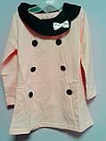 Платье с пуговицами 4 года розовое 41564 COCKCON Китай, фото 3