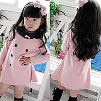 Платье с пуговицами 4 года розовое 41564 COCKCON Китай