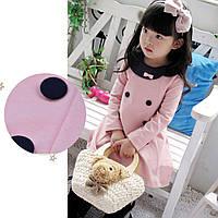 Платье с пуговицами на 3 года розовое 45924 COCKCON Китай