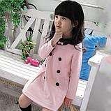 Платье с пуговицами 4 года розовое 41564 COCKCON Китай, фото 6
