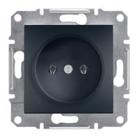 Розетка без заземления Schneider Electric-Asfora антрацит