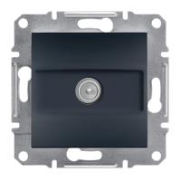 ТВ розетка концевая Schneider Electric-Asfora антрацит