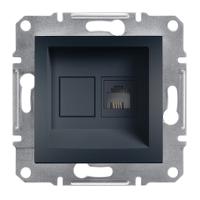 Розетка телефонная, RJ11, Schneider Electric-Asfora антрацит
