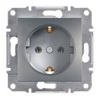 Розетка Schneider-Electric Asfora Plus с заземлением сталь