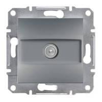 Розетка Schneider-Electric Asfora Plus TV концевая (1 дБ) сталь