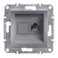 Розетка Schneider-Electric Asfora Plus компьютерная RJ45 кат. 5е UTP сталь