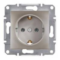 Розетка Schneider-Electric Asfora Plus с заземлением бронза