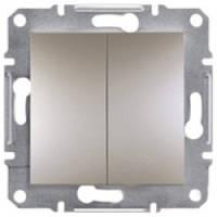 Выключатель Schneider-Electric Asfora Plus 2-клавишный бронза
