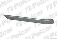Бампер задний седан / накладка средняя хром левая Mercedes С-Class W203 00-07