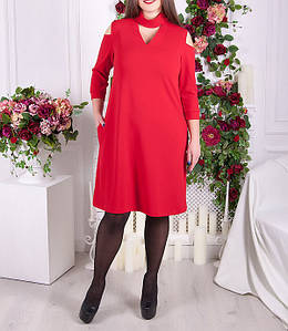 """Красивое платье больших размеров """"Азиза""""  до 70 размера"""