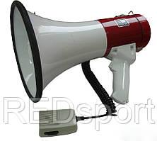 Громкоговоритель 002 (пластик, d-20,5см, l-33см, 20W с микрофоном, бело-красный)