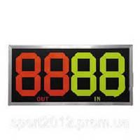Табло замены игроков  (2x2, металл, пластик, р-р 83*38см, двухсторонее, универсальное)