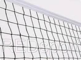 Сетка волейбольная  (нейлон, р-р 9,5*1,0м, ячейка р-р 10*10см, с метал. тросом)