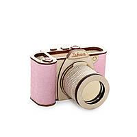 """Органайзер - подставка под канцтовары """"Фотоаппарат"""" розовый"""