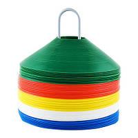 Фишка футбольная для пола малая круглая, :Цвет:желтый .