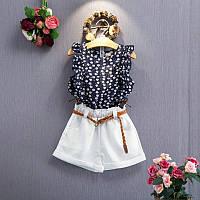 Комплект для девочки Блуза + шорты с поясом 3 года 46965 COCKCON Китай