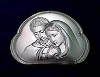 """""""Святое семейство"""" икона, покрытая серебром"""